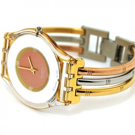 Ceas de dama Swatch Tri-Gold Small Model SFK240B