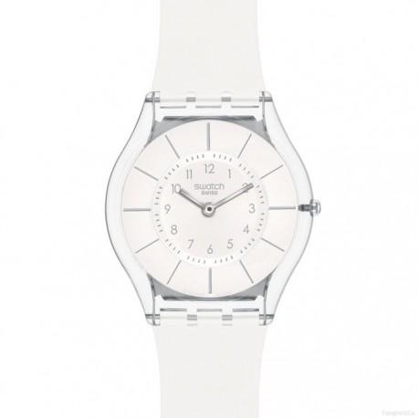 Ceas de mana dama Swatch Skin White Classiness SFK360
