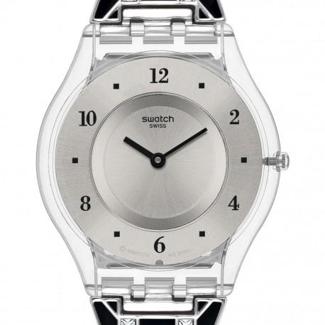 Ceas de dama Swatch Elegantly Framed Black SFK367G
