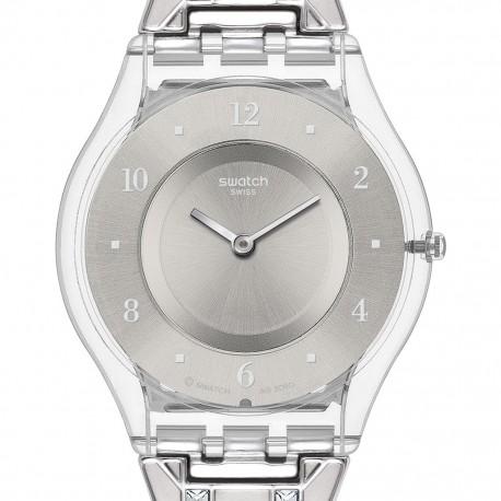 Ceas de dama Swatch Elegantly Framed Silver SFK368G