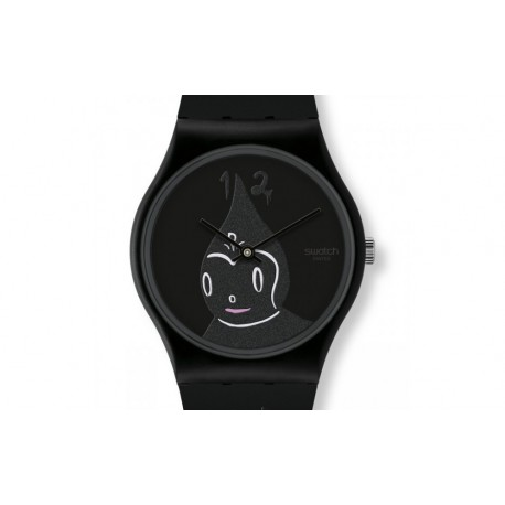 Ceas de mana Swatch Midnight Magi all black GB249