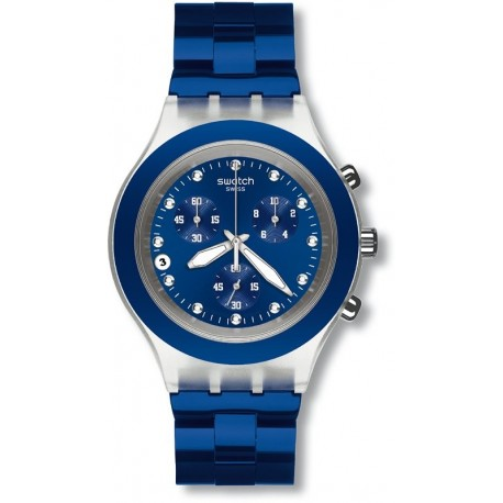 Ceas de mana Swatch Full-Blooded Navy SVCK4055AG