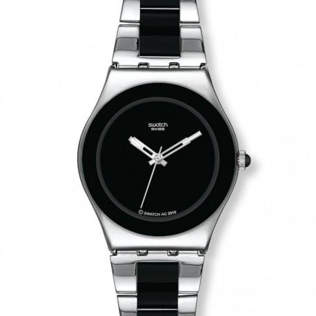 Ceas de dama Swatch Black Ceramic YLS168G