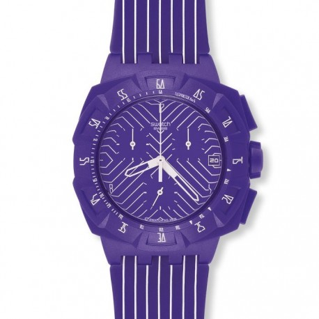 Ceas babratesc Swatch Purple Run SUIV401