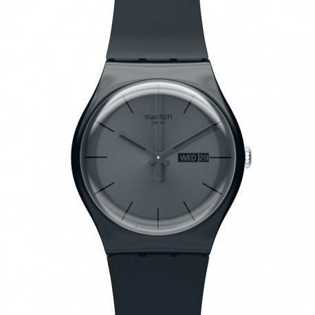 Ceas de mana original Swatch Black Rebel SUOB702