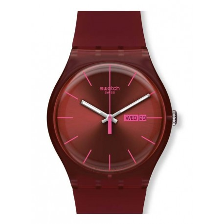 Ceas de mana Swatch Burgundy Rebel SUOR702