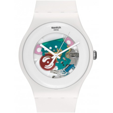 Ceas de mana Swatch White Lacquered SUOW100