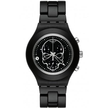 Ceas de mana Swatch Full-Blooded Black Skull SVCG4001AG