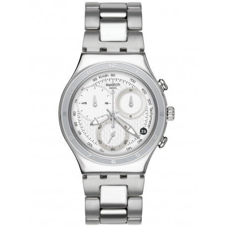 Ceas de mana barbatesc Swatch Oblique End White YCS550G