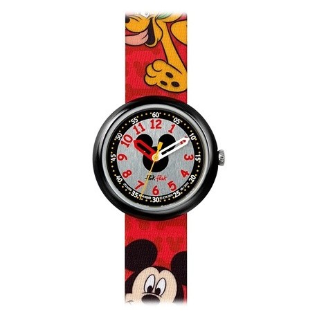 Ceas copii Swatch Flik Flak Mickey Mouse FLN056