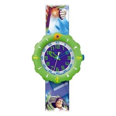 Ceas mana copii Swatch Flik Flak Toy Story Buzz FLS035