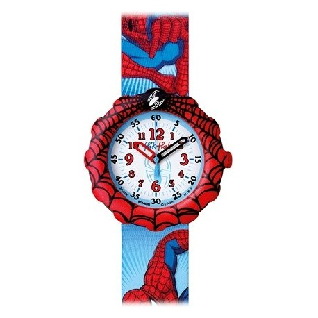 Ceas de mana copii Swatch Flik Flak Spiderman FLS0036