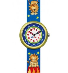 Ceas de mana copii Swatch Flik Flak Funny Lion Party FBN089