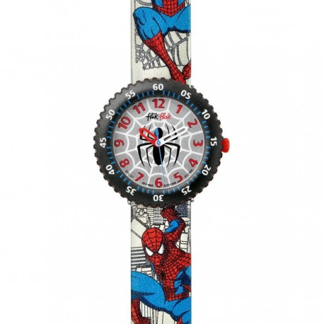 Ceas de mana copii SwatchFlik Flak Web-Head Spiderman Watch FFL007
