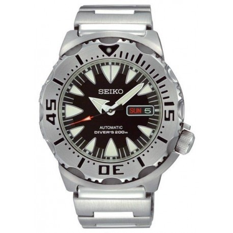 Ceas de mana barbatesc Seiko new black Monster 2 Automatic SRP307
