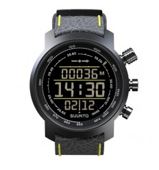 Ceas de mana barbatesc Suunto Watches Elementum Terra Black/Yellow Leather SS019997000