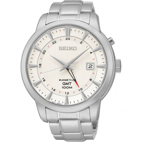 Ceas de mana barbatesc Seiko Kinetic GMT SUN029P1