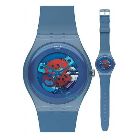 Ceas de mana Swatch Blue Grey Lacquered SUON102