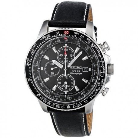 Ceas barbatesc Seiko Solar Chronograph Pilot SSC009P3